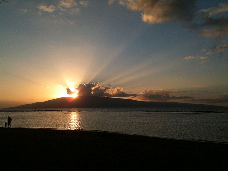 Sunset near Lahaina
