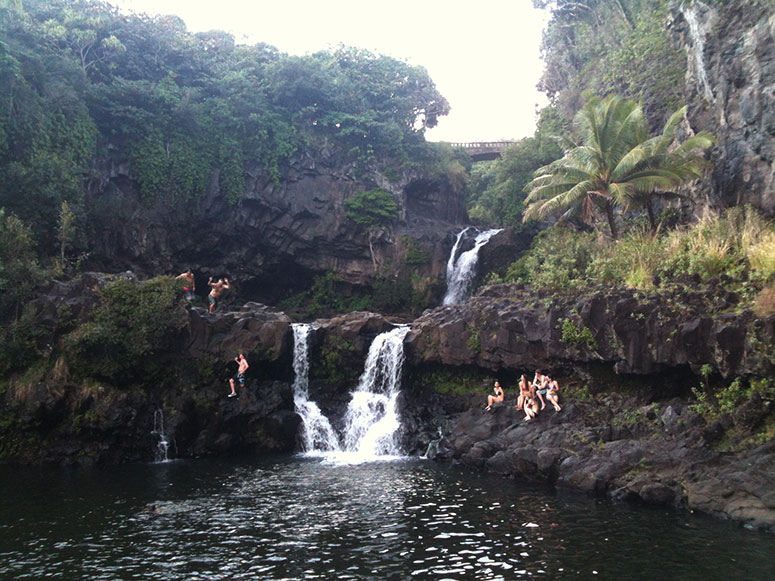 Seven Pools waterfall on the Hana Highway