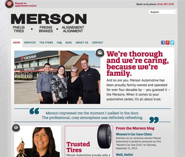 Merson Auto Site Screenshot