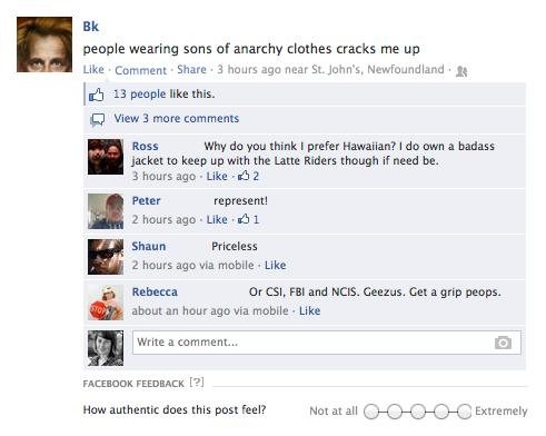 Facebook Authenticity Checker